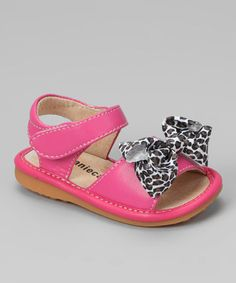 6cd7c5f36a Laniecakes Hot Pink Leopard Bow Squeaker Sandal