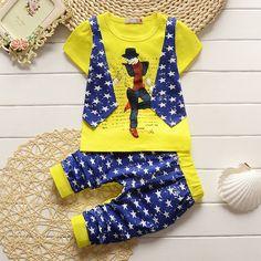 http://babyclothes.fashiongarments.biz/  Boys Clothing Sets Summer Baby Kids Clothes Suit 2 Pcs Stitching T-Shirt + Shorts Children Toddler Boys Leisure Outfits, http://babyclothes.fashiongarments.biz/products/boys-clothing-sets-summer-baby-kids-clothes-s