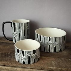 Bowl set and matching mug. #brooklynbornceramics #clay #pottery #ceramics #handmade #brooklyn #nyc #bowl #mug