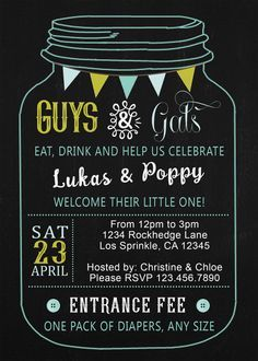 Ideas for baby shower invitations shower invitations couples baby mason jar baby shower invitation baby shower printable customized unisex couples baby shower bbq baby shower co ed baby shower filmwisefo Gallery