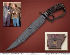 Best Bowie Award earned by Journeyman Smith David Lisch at the 2013 Arkansas Custom Knife Show.