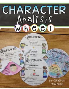 Students can practice analyzing characters by creating their own colorful Character Analysis Wheel!