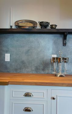 zinc backsplash