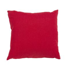 Jaipur Rugs Solid Pattern Red Linen Pillow LIN08
