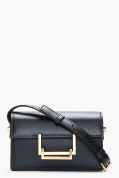 saint laurent | black leather lulu bag $1690 / LOVE this bc it goes perfectly with my fave earrings and that slim gold bangle