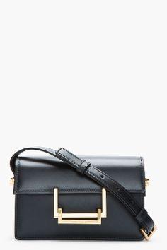 Saint Lurent | black leather lulu bag