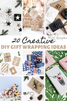 21 different creative gift wrapping ideas for Christmas, holidays, birthdays and special occasions. How to make gift wrap that's special, easy and most of all makes your gift stand out! Paper Bag Gift Wrapping, Creative Gift Wrapping, Paper Gift Bags, Paper Gifts, Creative Gifts, Wrapping Presents, Creative Ideas, Christmas Gift Box, Christmas Gift Wrapping