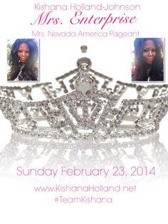 "2014 Mrs. Nevada-America Delegate, Mrs. Kishana Holland-Johnson ""Mrs. Enterprise"".  www.KishanaHolland.net"