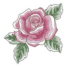 Sketched Roses 2, 1 - 4x4 | What's New | Machine Embroidery Designs | SWAKembroidery.com Ace Points Embroidery