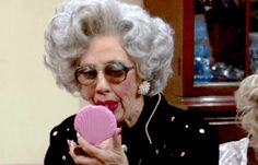 She knew how to rock lipstick better than anyone else: | 16 Reasons Why Grandma Yetta Had The Most Swag In The Fine Family