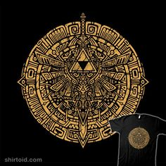 """""""Inca Forces"""" by Incan style design inspired by The Legend of Zelda featuring a Triforce and the Master Sword Day Of The Shirt, All Video Games, Master Sword, The Legend Of Zelda, Golden Triangle, Inca, Funny Tee Shirts, Unisex, Personalized Items"""