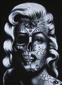 marilyn monroe skull tattoo - Google Search