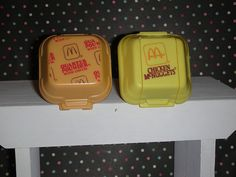 McDonald's in the 80's; remember when they used styrofoam containers?