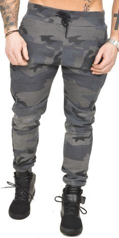 Jogging sarouel camo à poches zippées