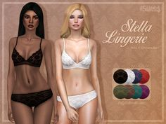 Sims 4 CC - Stella Lingerie by Trillyke on Tumblr