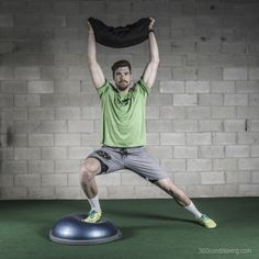 Here is one of 360's favourites – BOSU side lunge with the COREFX Weighted Sandbag. http://www.360conditioning.com/corefx-sandbag.html #workoutwednesday #fitness #motivation #inspire #exercise #training #workhard