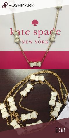 Take a bow necklace Gorgeous necklace by Kate Spade kate spade Jewelry Necklaces