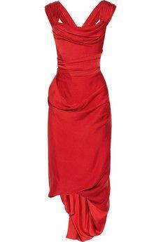 Vivienne Westwood silk crepe de chine dress. SO Jessica Rabbit it hurts!