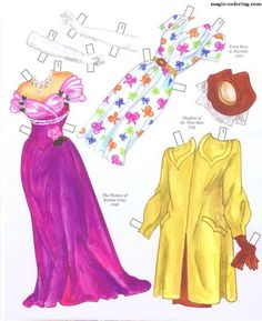 MAGIC-COLORING | Donna Reed Paper Dolls