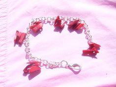 Bettelarmband mit Koralle von Traumnetz.com  - Kraft der Steine   Besondere Geschenke auf DaWanda.com