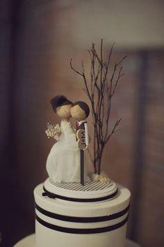 Cake Topper Idea Diy Wedding Cakes Bridezilla