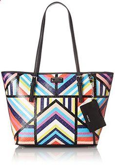 Nine West Ava Tote Shoulder Bag, Black Multi, One Size. Visit website to read more description.