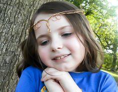 Brass Elven Circlet - Medieval tiara - Renaissance Circlet - Wedding Tiara - Elven Cosplay - Fantasy Cosplay - Elven Costume - Elvish Crown