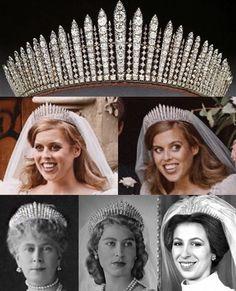 Royal Crown Jewels, Royal Crowns, Royal Tiaras, Royal Jewelry, British Crown Jewels, Princess Beatrice Wedding, Princess Eugenie And Beatrice, Princess Anne, Royal Uk