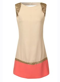 Little Mistress Cream and Coral Embellished Tunic