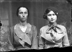 Two Romanian women circa 1930s. Gosh I love that gals style on the right!