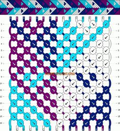 Normal Friendship Bracelet Pattern #4977 - BraceletBook.com