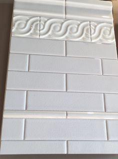 2x8 crackled subway ceramic tiles