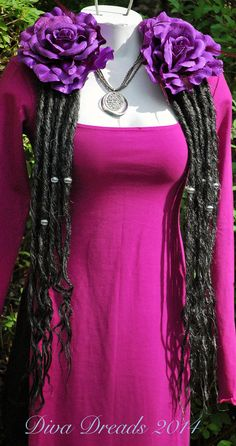 Black and Salt and Pepper dread lock falls by Diva Dreads on Etsy, $85.00