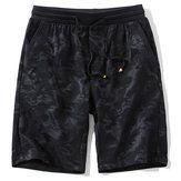 Summer Stylish Printing Fifth Board Shorts Men's Elastic Breathable Sandy Beach Shorts