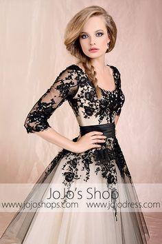 Retro 50s 60s Tea Length Lace Tulle Formal Wedding Dress | JoJo's Shop