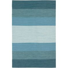 Chandra Rugs India Blue Striped Rug & Reviews | AllModern