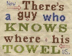 cross stitch pattern A guy who knows where his by pickleladyfarm, $5.00