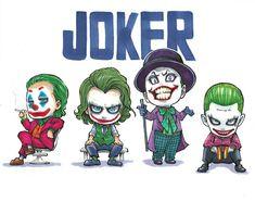 El joker,el bromas,el guason y mr.jay Der Joker, Joker Dc, Joker And Harley Quinn, Comic Character, Character Design, Batman Arkham City, Gotham City, Joker Drawings, Chibi Marvel