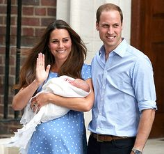 Prince of Cambridge first picture with kate middleton, prince william