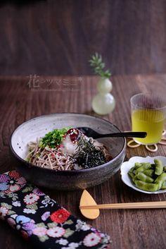 Ume Oroshi Soba 梅おろし蕎麦 Japanese Noodle Dish, Japanese Dishes, Japanese Food, Sushi Set, Soba Recipe, Food Design, Food Plating, Food Dishes, Asian Recipes