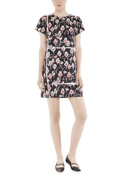 Marc Jacobs Short Sleeve Cartoon Floral Dress is made from silk twill sourced from an Italian mill, printed with a custom-developed 'Cartoon Floral'.