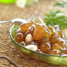 GREEK DESSERT    Γλυκό του κουταλιού σταφύλι / Grape spoon sweet (stafyli glyko)    http://www.kouzinomageiremata.gr/index.php/index.php/en/2012-12-06-18-50-12/2012-12-06-18-50-41/item/377-grape-spoon-sweet-stafyli-glyko