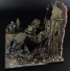 """Bootblack"" 1/35 Scale Model Diorama"