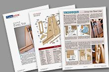 Panel saw plans ~ what you get