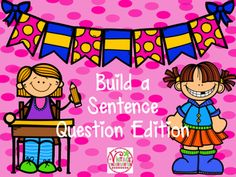 Are you kids ready to move from telling to asking sentences?  This product gives them the tools they need to successfully create and write a question.  Included:color coded cards for all parts of the sentence including question marks.