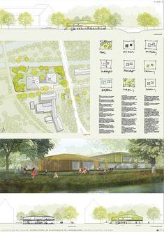 Kindergarten and Primary School / (se)arch Architekten,competition panel 01