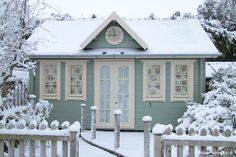 Clock House in the Garden of Pottery Cottage in a Winter Wonderland