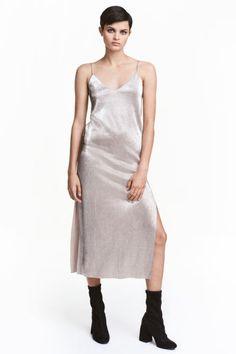 Robe plissée - Argenté/métallisé - FEMME   H&M BE 1