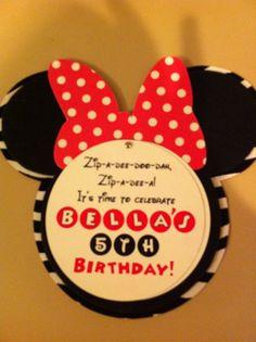 I like the wording of this invitation. Girls 3rd Birthday, Fourth Birthday, Minnie Birthday, 3rd Birthday Parties, Birthday Stuff, Birthday Ideas, Invitation Fonts, Invites, Disney Princess Invitations
