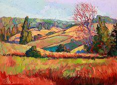 Northwest wine country original oil painting by Erin Hanson Landscape Art, Landscape Paintings, Erin Hanson, Oil Painting Texture, Modern Impressionism, Cool Landscapes, Light Art, Art Pages, Fine Art America